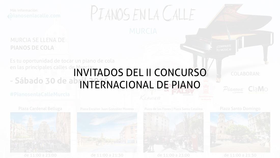 Invitados del II Concurso Internacional de Piano