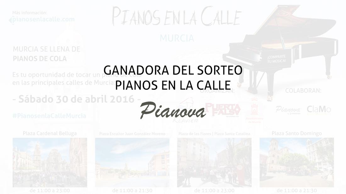 Ganadora del sorteo Pianos en la Calle