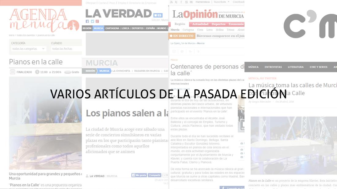 Varios artículos de la pasada edición
